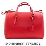 Red Women Bag Isolated On Whit...