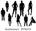 men   women silhouettes | Shutterstock .eps vector #9978274