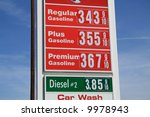 high gas prices | Shutterstock . vector #9978943