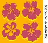 vector flower. hibiscus... | Shutterstock .eps vector #99792905