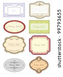 vintage label collection | Shutterstock .eps vector #99793655