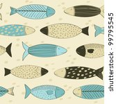 fish seamless background | Shutterstock .eps vector #99795545