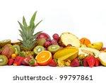 fresh various fruits | Shutterstock . vector #99797861