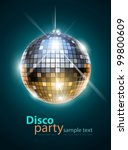 mirror disco ball vector...