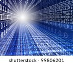 blue digital background with... | Shutterstock . vector #99806201