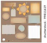 vector set  vintage postcard ... | Shutterstock .eps vector #99811619