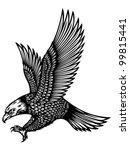 attacking eagle tattoo   Shutterstock .eps vector #99815441
