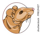 rat head in a circle  chinese... | Shutterstock . vector #99819437