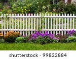 White Picket Fence With Pretty...
