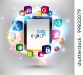 stylish conceptual social... | Shutterstock .eps vector #99832079