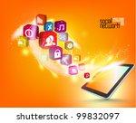 stylish conceptual social... | Shutterstock .eps vector #99832097