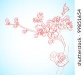background with sakura flowers | Shutterstock .eps vector #99851654
