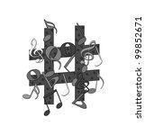 music notes | Shutterstock . vector #99852671