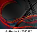 abstract blue waves of a... | Shutterstock . vector #9985579