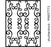 vector damask ornament | Shutterstock .eps vector #99857771