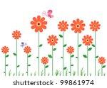 beautiful wall decal   Shutterstock .eps vector #99861974