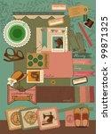 retro decorative style elements ... | Shutterstock .eps vector #99871325