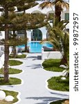 luxury hotel at santorini... | Shutterstock . vector #99872957