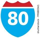 interstate 80 highway sign | Shutterstock .eps vector #99880361
