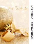 christmas card with christmas... | Shutterstock . vector #99883514