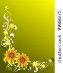 floral design   vector | Shutterstock .eps vector #9988375