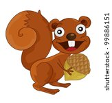 illustration of a squirrel on...   Shutterstock .eps vector #99886151
