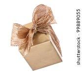 Luxurious gift isolated on white background - stock photo