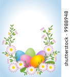 easter egg with daisy | Shutterstock .eps vector #9988948