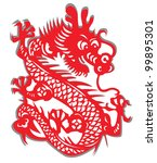 red dragon vector illustration | Shutterstock .eps vector #99895301