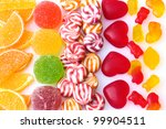 colorful jelly candies... | Shutterstock . vector #99904511