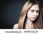 portrait of a young blond lady... | Shutterstock . vector #99907619