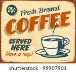 vintage metal sign   fresh... | Shutterstock . vector #99907901