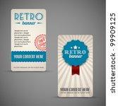 old vector retro vintage grunge ... | Shutterstock .eps vector #99909125