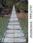 Suspension Bridge In Mexico