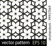 floral pattern. seamless vector ... | Shutterstock .eps vector #99917069