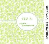 green leaves background | Shutterstock .eps vector #99917885