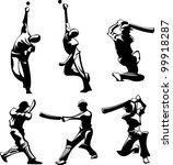 vector images of cricket... | Shutterstock .eps vector #99918287