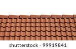 Roof Tiles Isolated On White...