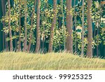 green forest | Shutterstock .eps vector #99925325