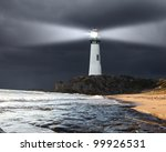 Collage With Lighthouse At...