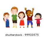 five kids | Shutterstock .eps vector #99933575