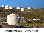 Windmills At Santorini Island...