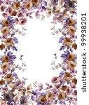 flowers frame in white... | Shutterstock . vector #99938201