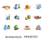 food icon set. stylized icons... | Shutterstock . vector #99939707