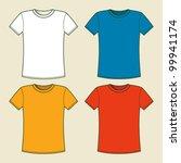 t shirts template | Shutterstock .eps vector #99941174