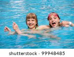 children playing in pool | Shutterstock . vector #99948485