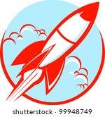 red rocket | Shutterstock .eps vector #99948749