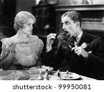 Man Eating A Roasted Turkey...