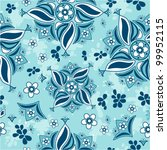 abstract seamless floral pattern | Shutterstock .eps vector #99952115
