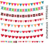 vector bunting and garland set. ... | Shutterstock .eps vector #99954641